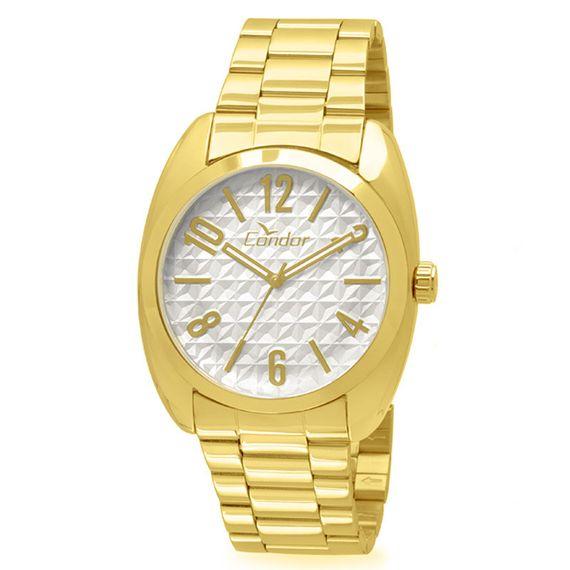 Relógio Condor Feminino Dourado com Fundo Branco - CO2035KMW/K4C