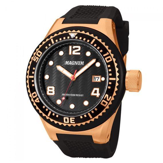 Relógio Magnum Masculino com Caixa Bronze - MA34021P