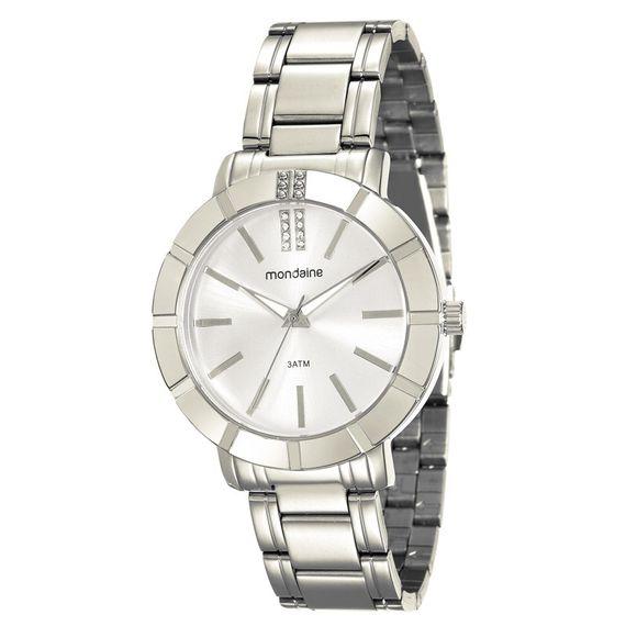 Relógio Mondaine Feminino em Aço com Pulseira e Fundo Prata - 94804L0MVNE1