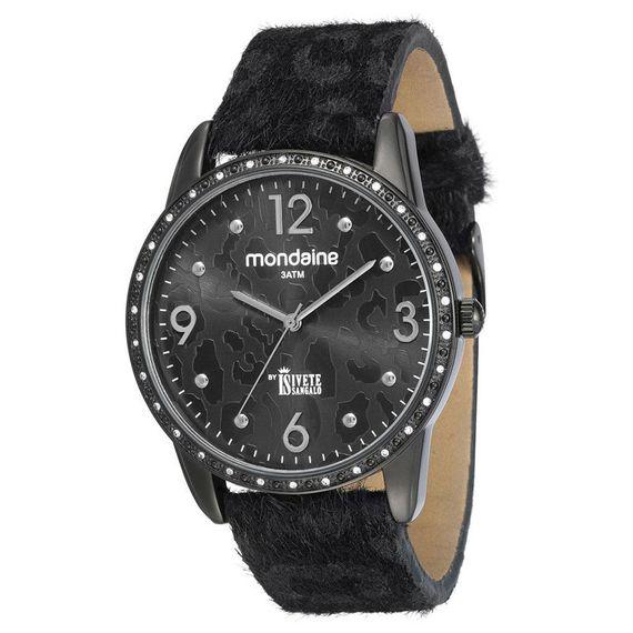 Relógio Mondaine Feminino By Ivete Sangalo em Couro Preto - 94661LPMVPH1