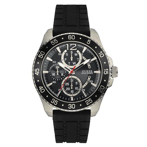 Relógio Guess Masculino em Silicone Preta Cronógrafo Preto - 92600G0GSNU2