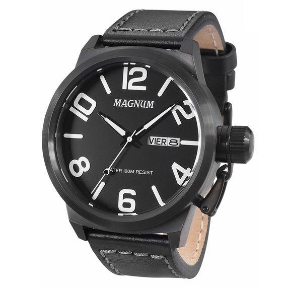 Relógio Magnum Masculino em Couro Preto - MA33399K