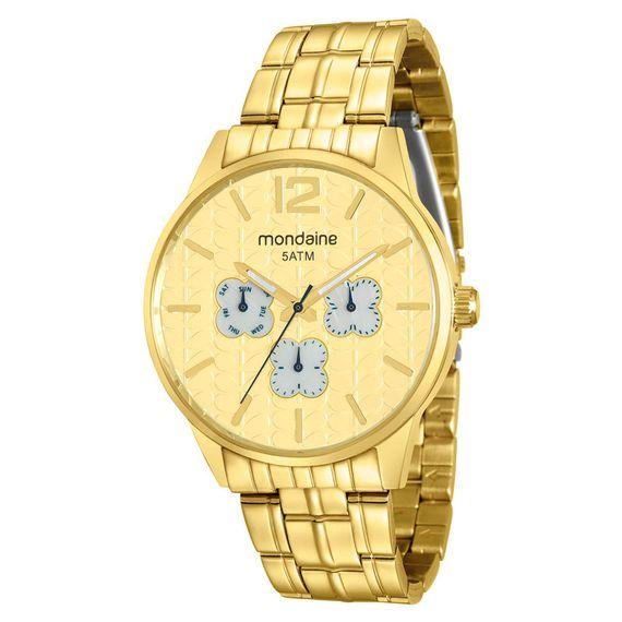 Relógio Mondaine Dourado Feminino Cronógrafo - 78737LPMVDA2