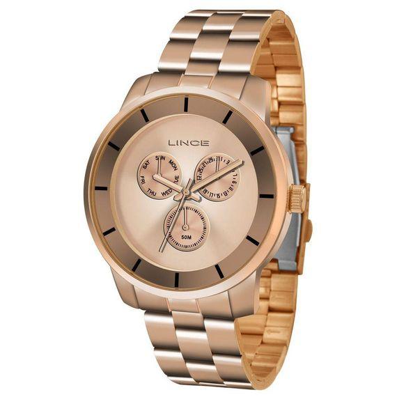 Relógio Lince Feminino Rosé e Visor Rosé - LMR4478L/R1RX