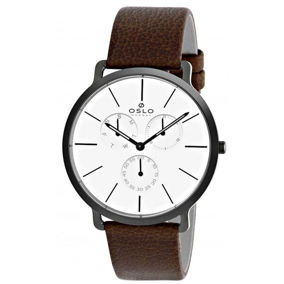 Relógio Oslo Masculino Preto com Branco - OMPSCMVD0001