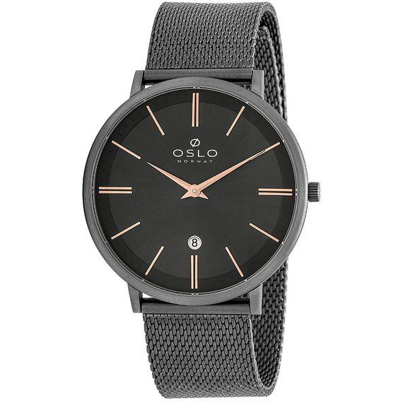 Relógio Oslo Masculino Preto e Rose - OMBTTSOR0002