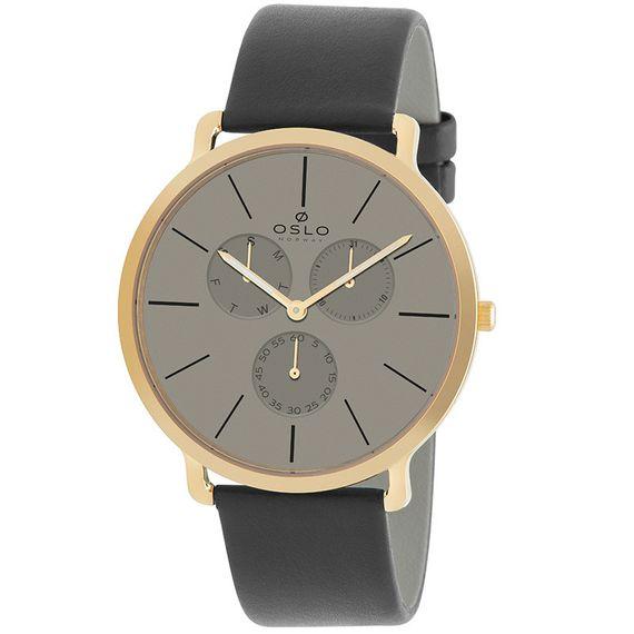 Relógio Oslo Masculino Preto e Dourado - OMGSCMVD0001