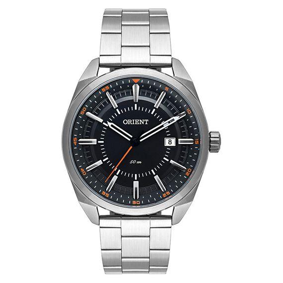 Relógio Orient Masculino Prata com Preto - MBSS1346