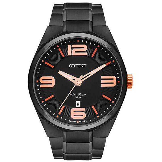 Relógio Orient Masculino Preto e Laranja - MPSS1003 P2PX