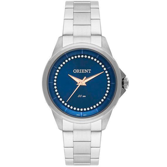Relógio Orient Strass Feminino Prata - FBSS0056 D1SX