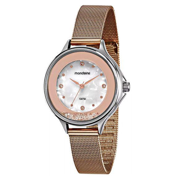 Relógio Malha de Aço Madrepérola Rosé - 99339LPMVGE3