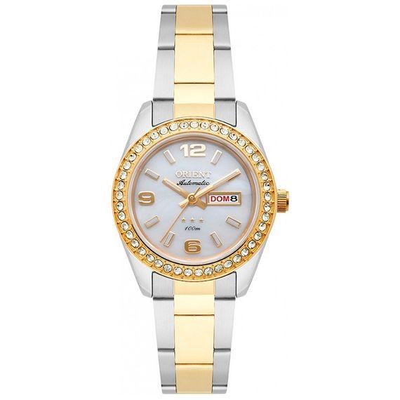 Relógio Orient Prata com Dourado Feminino - 559TT008 B2SK