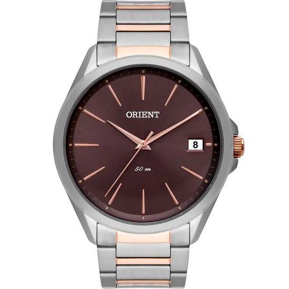 Relógio Orient Masculino Prata com Marrom - MTSS1100 N1SR