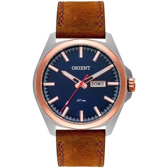 Relógio Orient Masculino Couro Marrom - MTSC2004 D1NX