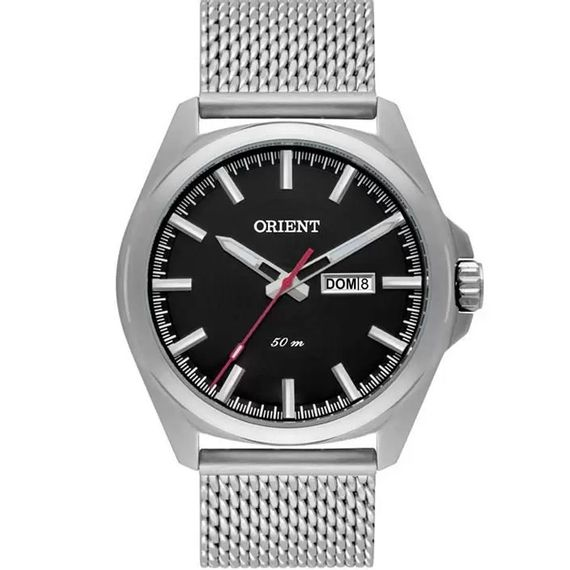 Relógio Orient Masculino Prata com Preto - MBSS2023 P1SX