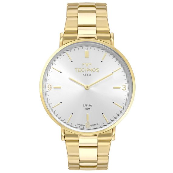 Relógio Technos Dourado Classic Slim - 2025LTP/4K