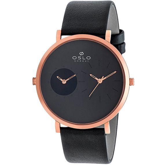 Relógio Oslo Masculino Preto e Rose - OMRSCS9T0008