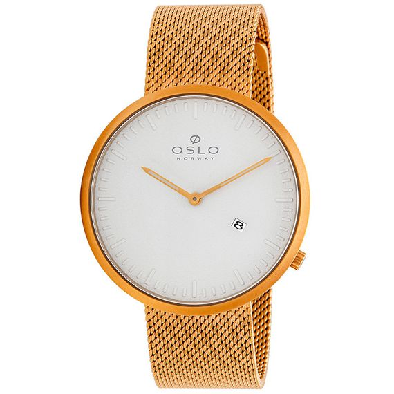 Relógio Oslo Masculino Dourado e Cinza - OMGSSS9U0007