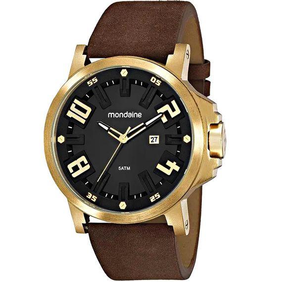Relógio Masculino Mondaine Couro Visor 3D - 99453GPMVDR1