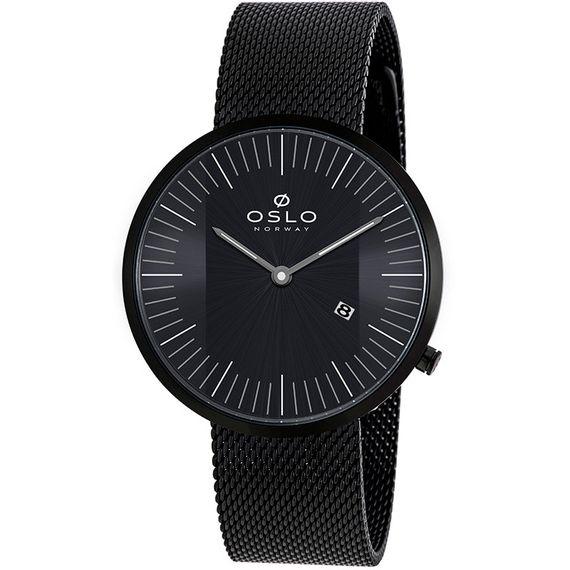 Relógio Oslo Masculino Preto Moldeo Mesh - OMPSSS9U0005