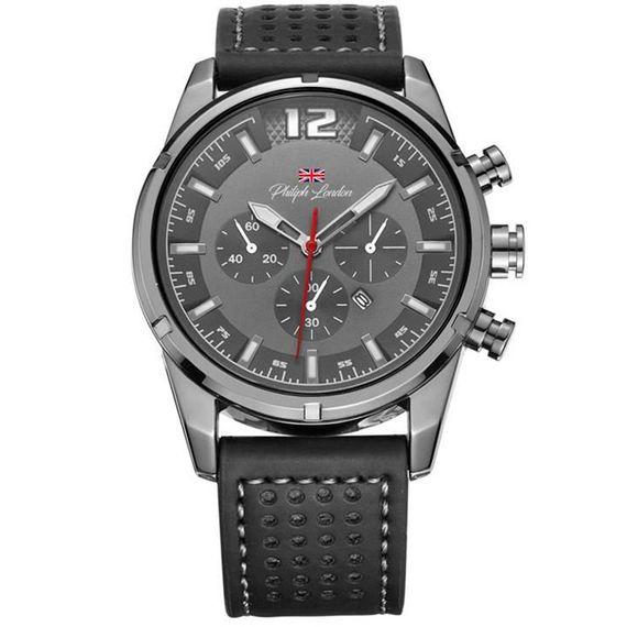 Relógio Philiph London Masculino Preto - PL80132612M CZ