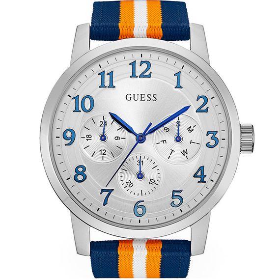 Relógio Guess Masculino Azul/Laranja - 92647G0GDNN2