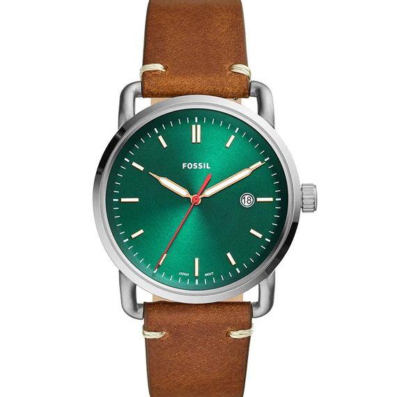 Relógio Fossil Pulseira de Couro Fundo Verde - FS5540/0KN