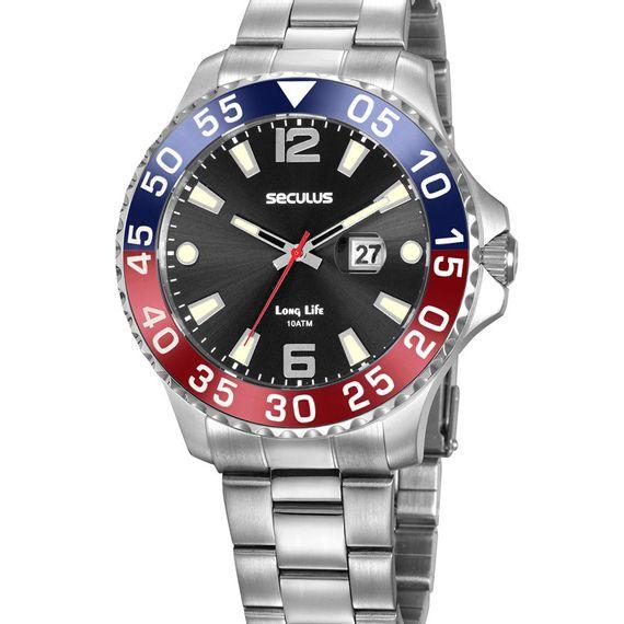 Relógio Masculino Seculus Prata - 20843G0SKNA1