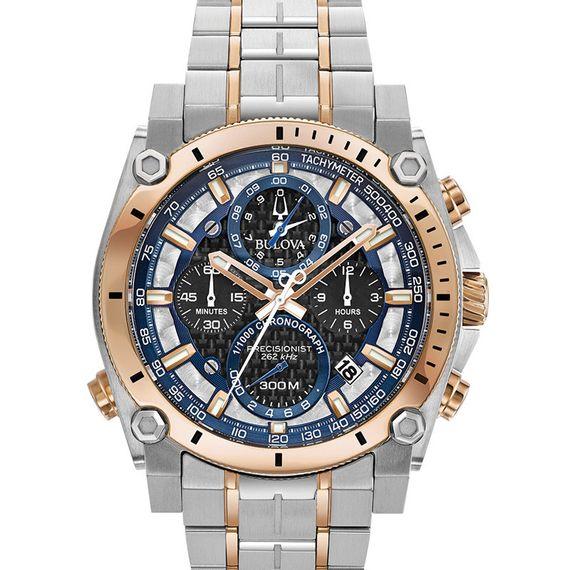 Relógio Bulova Masculino Prata e Rosê - 98B317