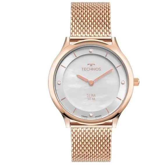 Relógio Feminino Analógico Rosé Technos GL20HL/1K