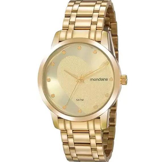 Relógio Feminino Analógico Dourado Mondaine - 99486LPMKDE2